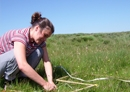 Photo of researcher doing field work